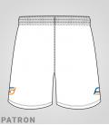 Patron short Basket-ball femme verso - Long-Short