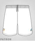 Patron short Basket-ball homme recto - Long-Short