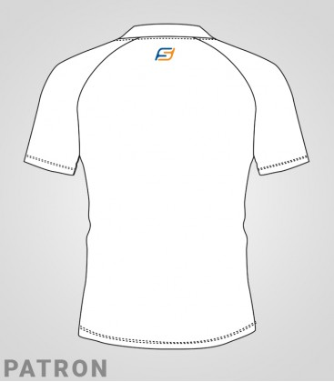 Patron maillot Athlétisme homme verso - T-Shirt classique Running compet