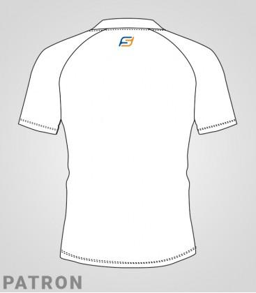 Patron maillot Athlétisme femme verso - T-Shirt classique Running compet