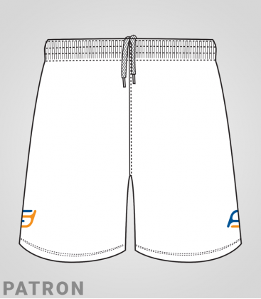 Patron short Basket-ball homme recto - Long-Short