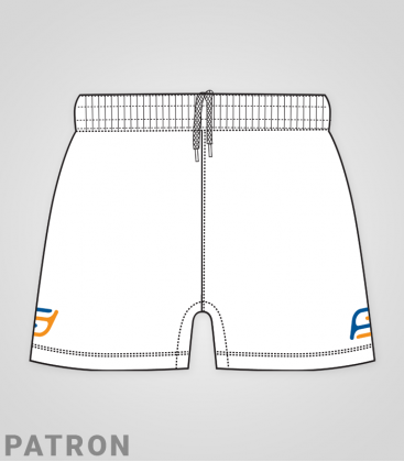 Patron short Rugby homme recto - Matchshort