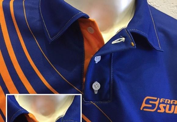 Polo club sublimé avec col boutonné nouveauté Francesubli